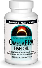 Фотография - Риб'ячий жир Омега-3 OmegaEpa Fish Oil Source Naturals 1000 мг 100 капсул