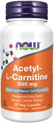 Фотография - Ацетил карнітин Acetyl-L Carnitine Now Foods 750 мг 90 таблеток