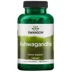 Ашвагандха екстракт кореня Ashwagandha Root Dried Powder Swanson 450 мг 100 капсул