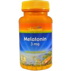 Фотография - Мелатонін Melatonin Thompson 3 мг 30 таблеток
