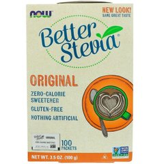 Стевія Better Stevia Now Foods 100 пакетів 100 г
