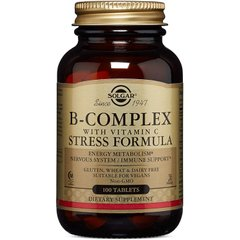 Вітаміни групи В + С B-Complex with Vitamin C Stress Formula Solgar 100 таблеток