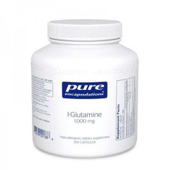 L-глютамиін l-Glutamine Pure Encapsulations 1000 мг 250 капсул