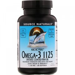 Фотография - Риб'ячий жир Arctic Pure Omega-3 Fish Oil Source Naturals 1125 мг 60 капсул