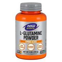 L-Глютамін в порошку L-Glutamine Powder Now Foods 170 г